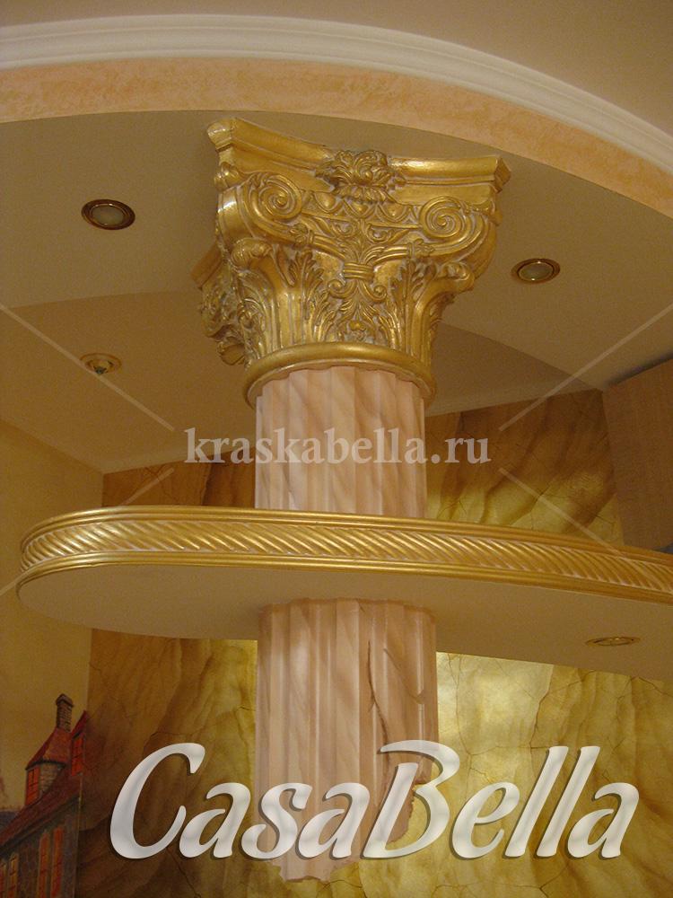золотая капитель колонны