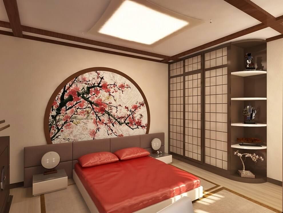сакура в спальне