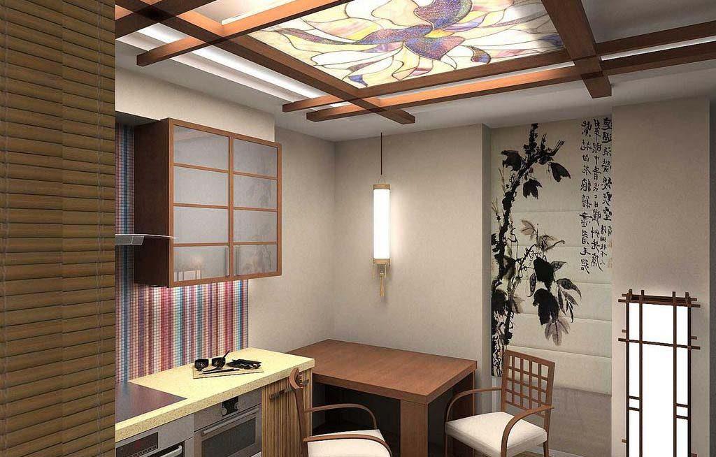 роспись стен в японском стиле