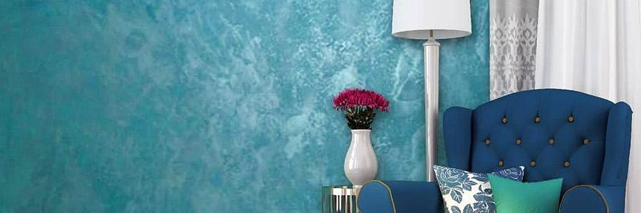 венецианская штукатурка на стене в гостиной фото